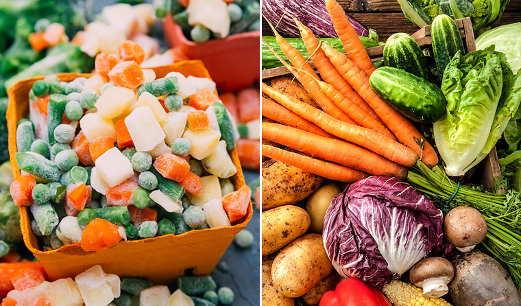 Dietitian Chloe McLeod suggests a mix of frozen and fresh can help to maintain healthy vegetable intake.