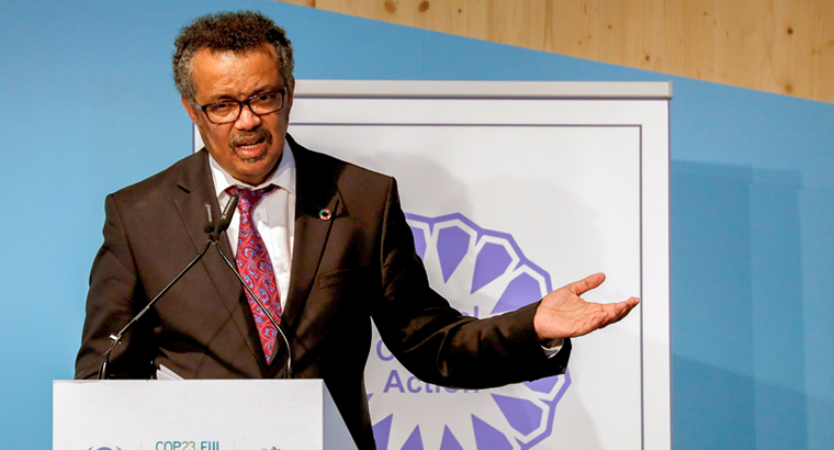 WHO Director-General Dr Tedros Adhanom Ghebreyesus believes, 'No one should get sick and die just because they are poor'. (Image: Ronals Wittek)