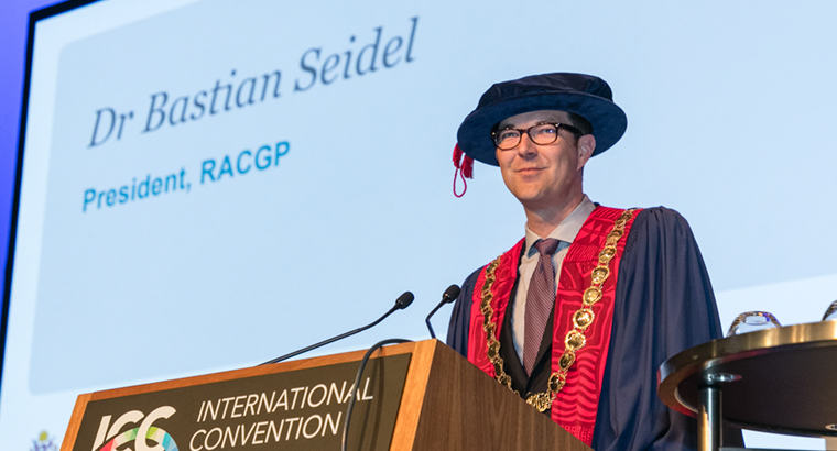 Dr Bastian Seidel described his time as RACGP President as 'one of the greatest honours' of his career.