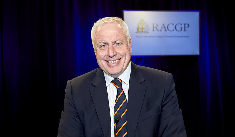 Dr Harry Nespolon said he hopes to 'successfully lead the RACGP through development and change'.