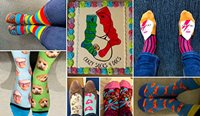The RACGP is encouraging members to wear their crazy socks and share photos on social media using the #CrazySocks4Docs hashtag.