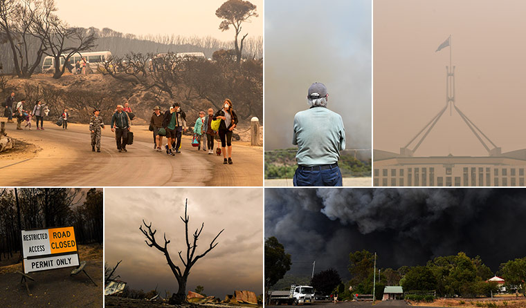 Support for residents affected by bushfires.