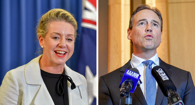 Bridget McKenzie and Greg Hunt want the new funding to help 'deliver a range of mental health support programs, including suicide-prevention measures'. (Images: Darren England, Mick Tsikas)