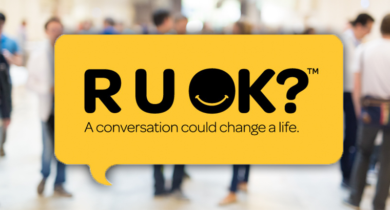 R U OK? Day aims to encourage family, friends and colleagues to start a conversation about mental wellbeing.