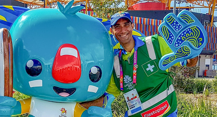 Dr Samuel Ibrahim has made the most of his time as a volunteer at the 2018 Commonwealth Games.