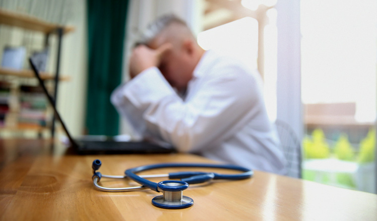 Image result for sad overworked doctors