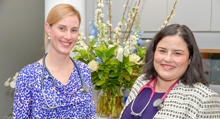 Dr Maria Boulton (right) and Dr Fiona Raciti have found sharing the same values and work ethic goes a long way in a successful business partnership.