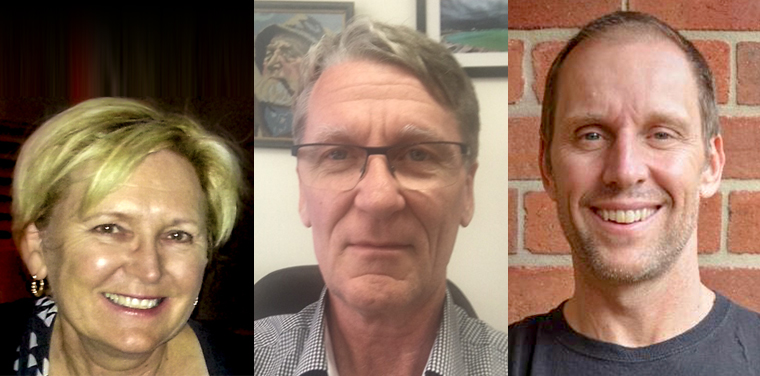 L–R: Dr Kerry Hancock has been awarded Honorary Fellowship of the RACGP; Dr Graham Emblen has been named an RACGP Corlis Award winner; Dr Simon Morgan has been named an RACGP Corlis Award winner.