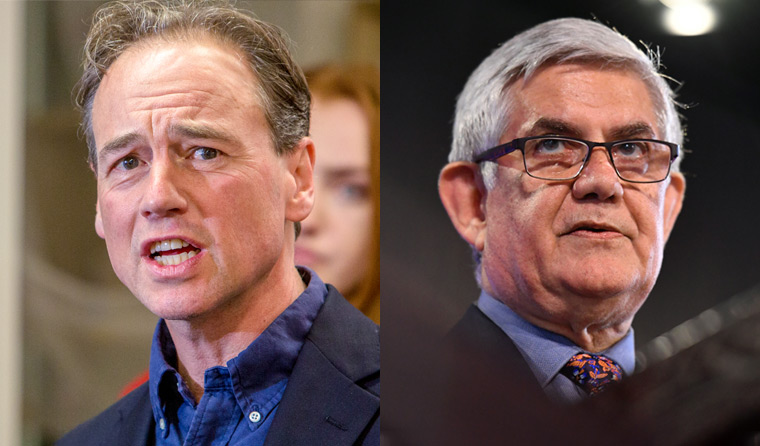 L–R: Greg Hunt and Ken Wyatt believe tackling FASD requires a national approach. (Images: AAP)