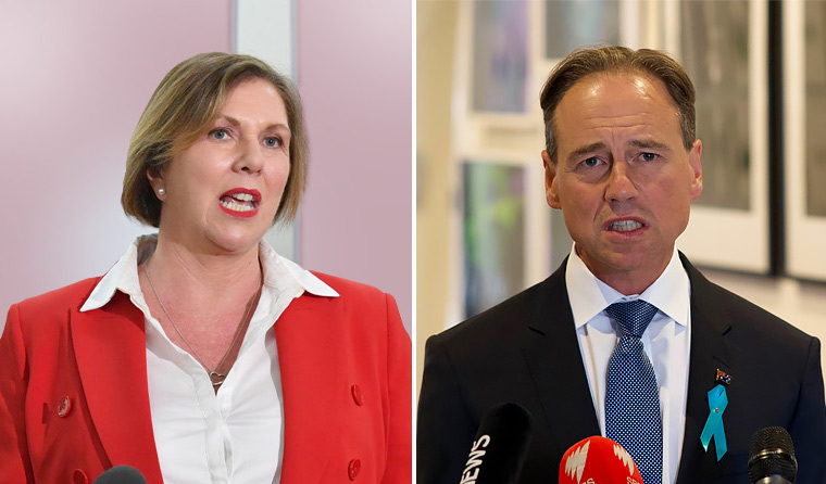 Catherine King and Greg Hunt