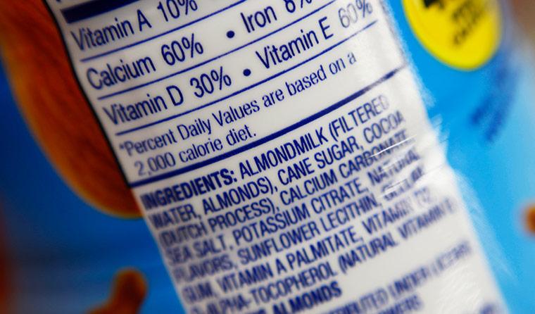 Food packaging label.