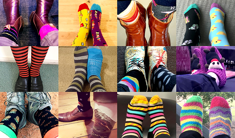 RACGP members and others have shown off their crazy socks in support of CrazySocks4Docs day.