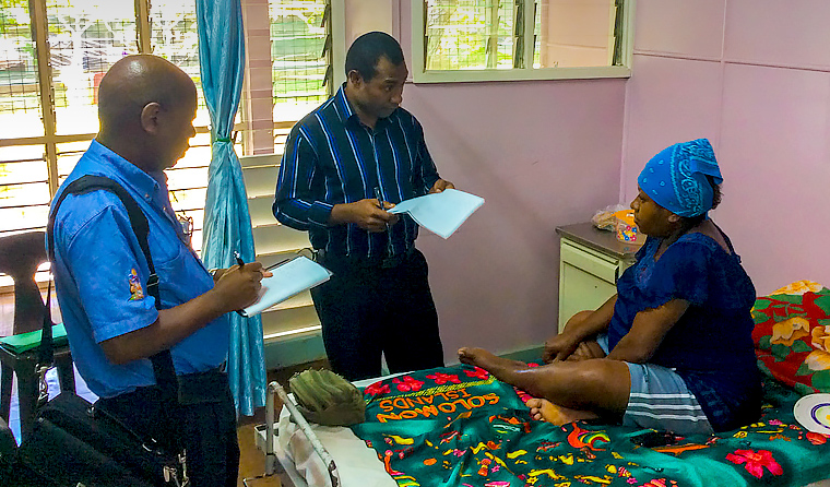 RACGP Rural Censor Dr Ken Wanguhu (left) supports the training pathway Dr Mills helped to establish by overseeing annual exams and assessments in PNG.