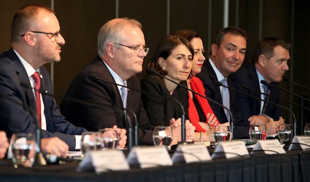 Leaders said they discussed issues to 'improve the lives and ensure the safety of all Australians'. (Image: Kelly Barnes)