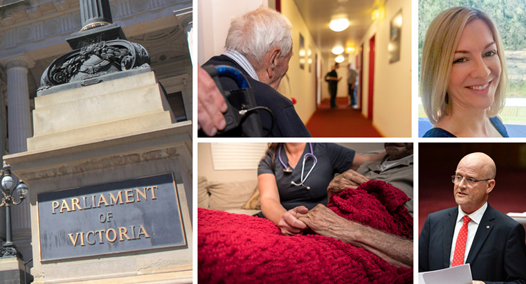 An Australian report found the palliative care sector had actually benefitted in overseas jurisdictions where assisted dying legislation had been passed. (Images: Georgios Kefalas, Mick Tsikas)