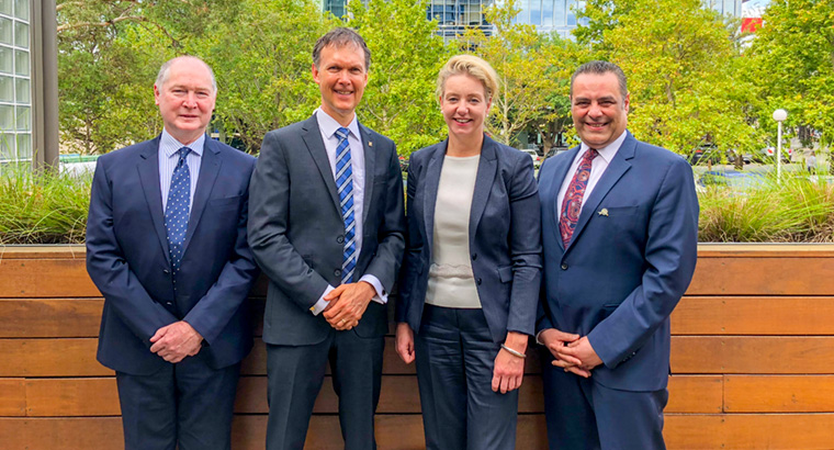 L–R: ACRRM's Dr Michael Beckoff, National Rural Health Commissioner Professor Paul Worley, Minister for Rural Health Bridget McKenzie, RACGP Rural Chair Dr Ayman Shenouda.