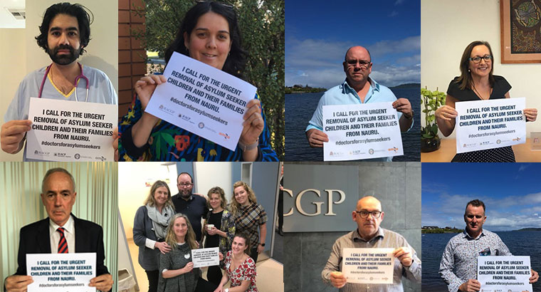 Doctors from all over Australia have pledged their support to the #doctorsforasylumseekers campaign.