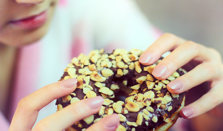 "Eating a delicious doughnut now seems more rewarding than the nebulous concept of ""better future health""."