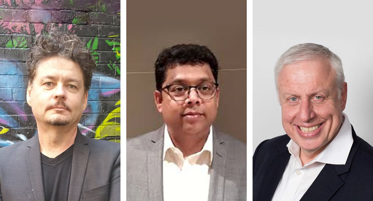 (L–R) RACGP presidential candidates Dr Bruce Willett, Dr Jags Krishnan and Dr Harry Nespolon.