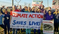 Health professionals protested the impact of coal on health in Newcastle in September last year.