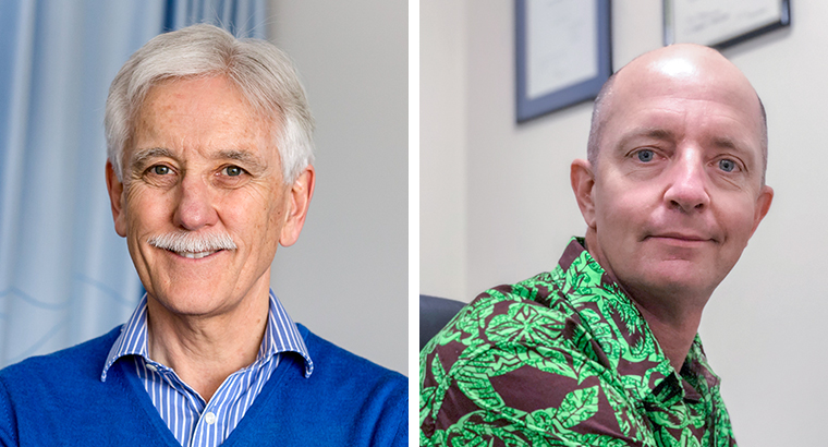 L–R: Dr Bill Sands is the RACGP's 2018 GP of the Year; Dr Stewart Jackson is the 2018 recipient of the RACGP Rural Brian Williams Award.