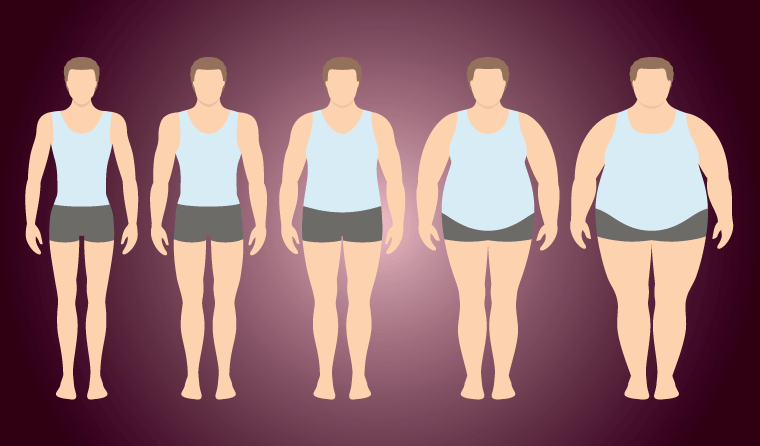 People experiencing an eating disorder are not necessarily underweight and can appear in all weight ranges.