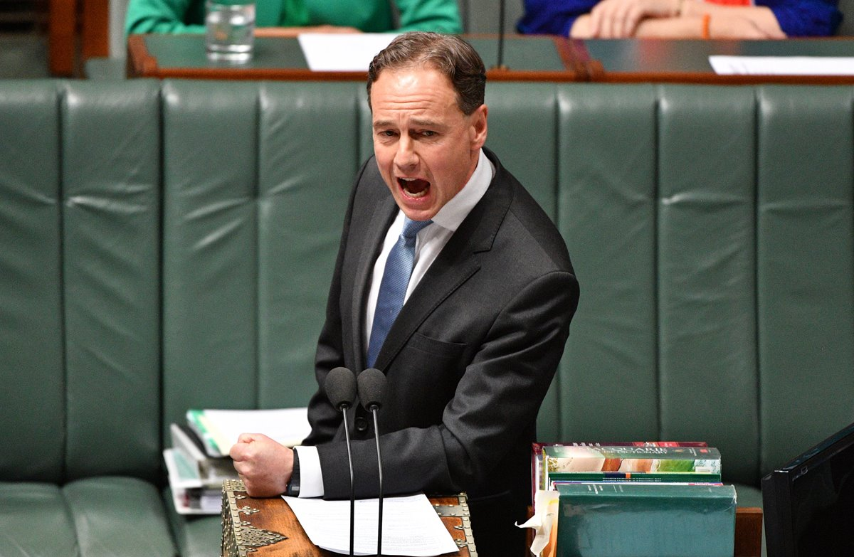 Federal Minister Greg Hunt wants to tighten requirements for reporting medicine shortages to the TGA. (Image: Mick Tsikas)
